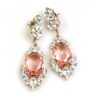 Mythique Earrings for Pierced Ears ~ Crystal Pink