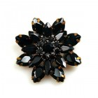 Grand Blossom Brooch ~ Medium ~ Black