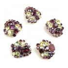 Lot of 5 pc. Rhinestone Buttons ~ #14