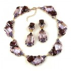 Pearlesque Necklace and Earrings ~ Violet Mood