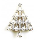 Xmas Tree Brooch #08 ~ Clear Crystal