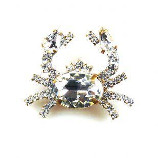 Crab Small ~ Clear Crystal