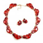 Lite Fountain Necklace with Earrings ~ Red