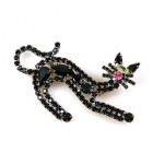 Arched Black Cat Pin