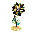 Flower Stand Up Decoration ~ Green Vitrail Yellow