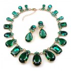 Effervescence Necklace Set ~ Emerald Green