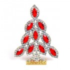 Xmas Tree Standing Decoration 2020 #12 Clear Red