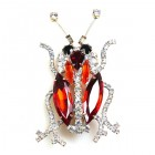 Longhorn Beetle Pin ~ Hyacinth
