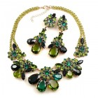 Parisienne Bloom Necklace Set ~ Green Tones