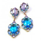 Symphony Earrings Pierced ~ Aqua Violet