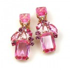 Emilee Earrings Clips ~ Fuchsia