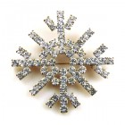 Snowflake Pin ~ Clear Crystal #3 Bigger