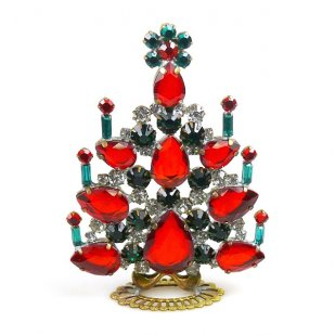 Xmas Tree Standing Decoration 2018 #07 ~ Red Emerald