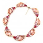 Fountain Necklace ~ Pink Tones