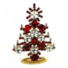 Xmas Tree Standing Decoration 2020 #20 ~ Clear Rivoli Red
