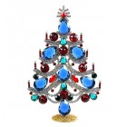 Xmas Tree Standing Decoration 2018 #02 ~ Blue Emerald Red