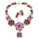 Eden Holiday Necklace with Earrings ~ Violet