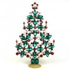 2020 Xmas Tree Decoration 22cm ~ Green Red Clear