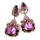 Iris Earrings Pierced ~ Extra Purple Amethyst