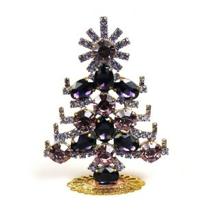Xmas Tree Standing Decoration 2019 #20 ~ Violet Rivoli Purple