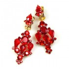 Fatal Kiss Earrings Clips-on ~ Red