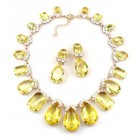 Effervescence Necklace Set ~ Yellow Jonquil