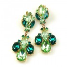 Earrings Green Collection Pierced ~ #4