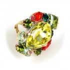 Déjà vu Ring ~ Yellow Green Multicolor