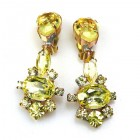 Marlene Earrings Clips ~ Yellow