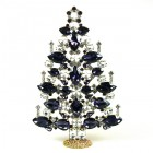 2020 Xmas Tree Decoration 21cm Navettes ~ Purple Clear