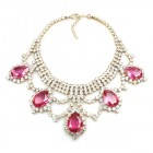 Mystery Necklace ~ Crystal Fuchsia
