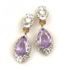 Tears Clips-on Earrings ~ Crystal Violet