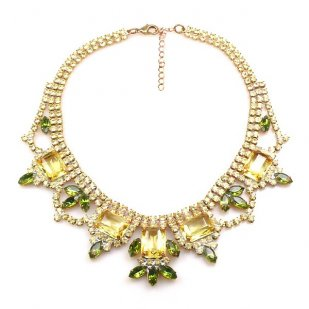 Countess Necklace ~ Yellow Olive