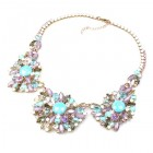 Empress Necklace ~ Violet Aqua Tones