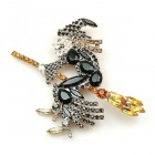 Witch on Broom Brooch ~ Brooch