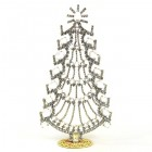 Xmas Tree Standing Tall Decoration 20cm ~ Clear Crystal