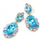 Mythique Extra Earrings for Pierced Ears ~ Aqua Violet