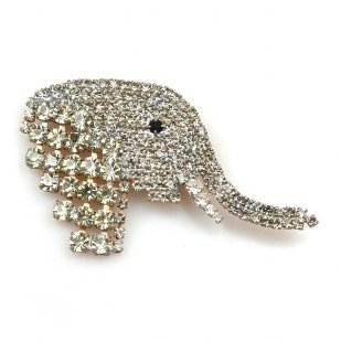Elephant Head ~ Brooch ~ Medium