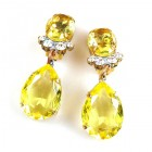 Effervescence Earrings with Clips ~ Yellow