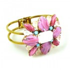 Miracle Clamper Bracelet ~ Pastel Colors Opaque Pink