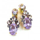 Dramatic Earrings Clips ~ Violet