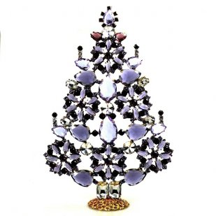 2019 Xmas Tree Stand-up Decoration 22cm ~ Purple Violet