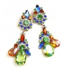 Parisienne Bloom Earrings Pierced ~ Jungle Flower