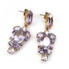 Raquel Earrings Pierced ~ Violet