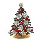 Xmas Tree Standing Decoration 2020 #08 Clear Emerald Red