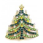 Chain Xmas Tree Brooch #07