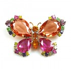 Butterfly Multicolor Brooch ~ #2