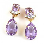 Effervescence Earrings with Clips ~ Violet
