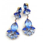 Fancy Essence Earrings Clips ~ Sapphire Blue