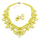 Dolce Vita Necklace and Earrings ~ Jonquil with Opaque Yellow